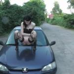 Fremdes Auto angepisst